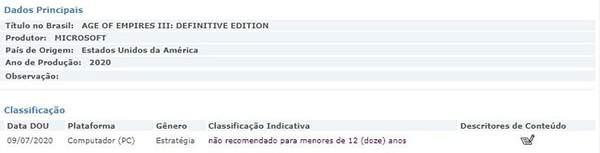 《帝国时代3:决定版》亮相巴西评级网 发售或近在咫尺