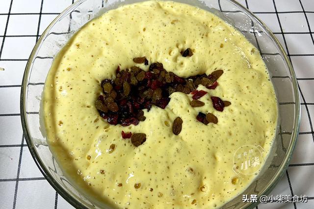 发糕懒人做法,一碗面粉3个鸡蛋,筷子一搅,松软不塌陷,超好吃