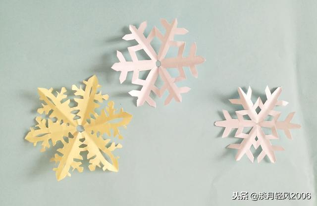 折纸雪花图纸教程图解,可以用来装饰房间太漂亮了_腾讯网