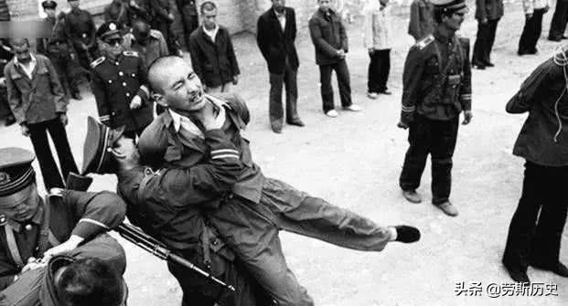 1983年严打老照片:即将被枪毙的罪犯