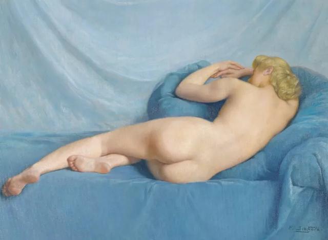 """被称为""""美臀国王""""法国人体肖像画家,他笔下的女人优美真实"""