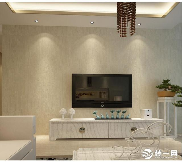 【图】六款墙布电视墙装修效果图欣赏 别人看了都说好_墙布电...