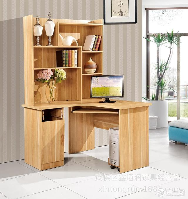 书桌书柜组合效果图