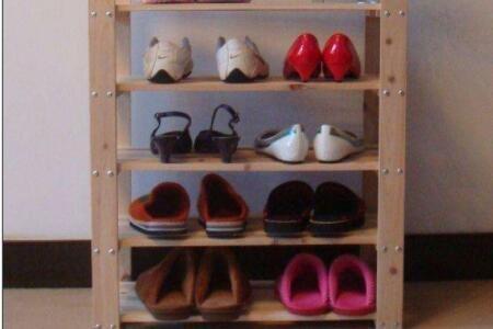 简易鞋架拼装