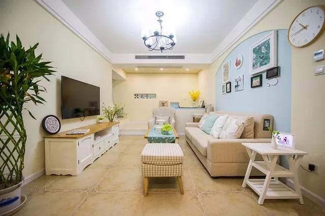 现在客厅最流行地砖颜色搭配效果图-信用家装修网