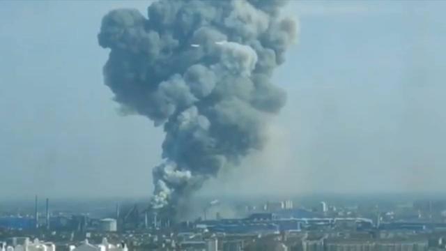 南昌青山湖区一钢铁厂发生爆燃事故