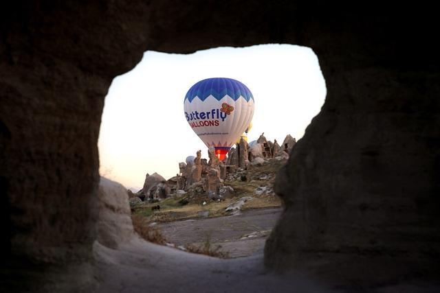 土耳其热气球背景图片