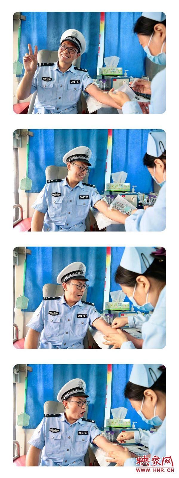 最萌警察表情包 献血日,一位警察小哥哥表情火了!网友:谁还不是个宝宝了