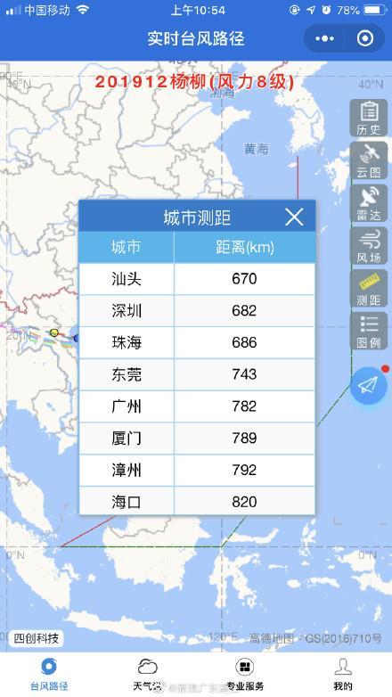 台风最新路径图