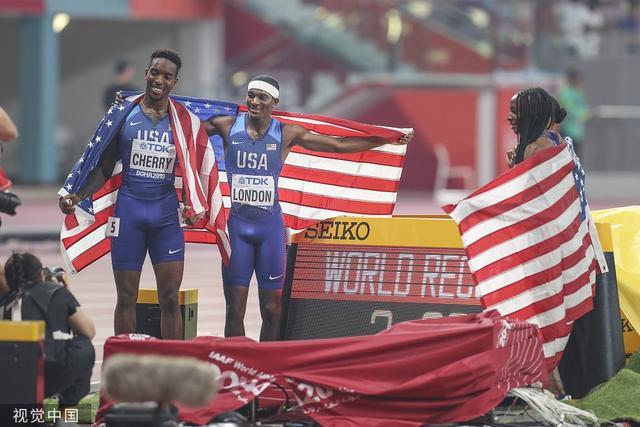 田径世锦赛男子4x100米接力决赛,中国队创造历史最好成绩!