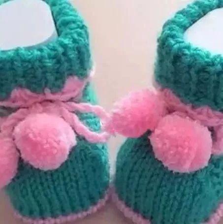 婴儿毛线鞋百度图片
