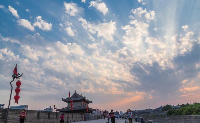 西安城墙简笔画