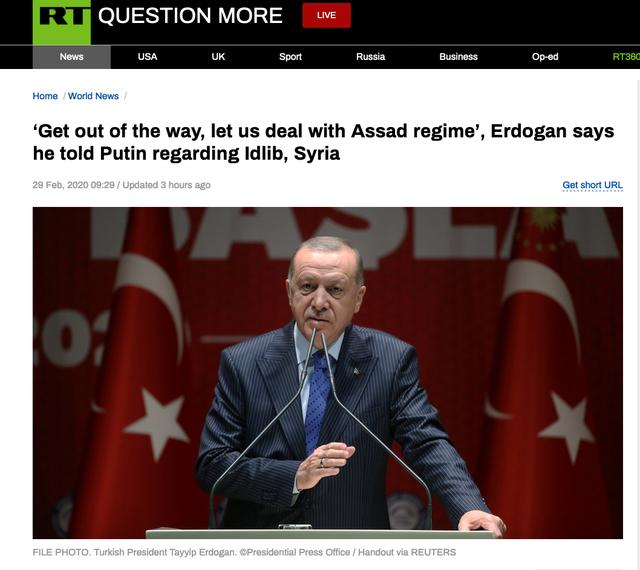 要与阿萨德政权正面刚,埃尔多安自称电话告知普京:别挡道插图
