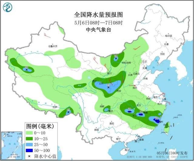 【全国天气】中东部将有大范围降雨