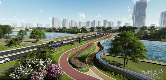 智慧新城三江中路连通工程,来了!一轴两带十场景……