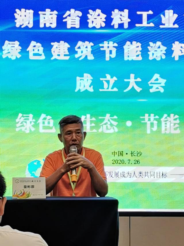 湖南省绿色建筑节能涂料协会成立——童彬原当选首任会长