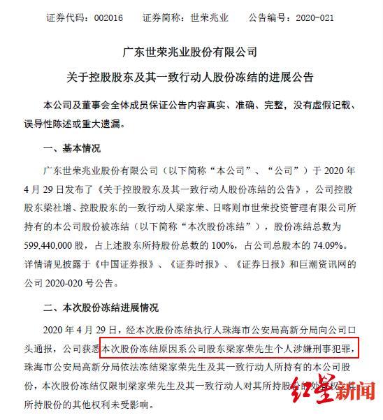 """珠海最大""""地主""""世荣兆业前董事长涉黑,传已滞留境外,检举最高奖50万"""