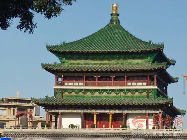 西安钟楼图片唯美