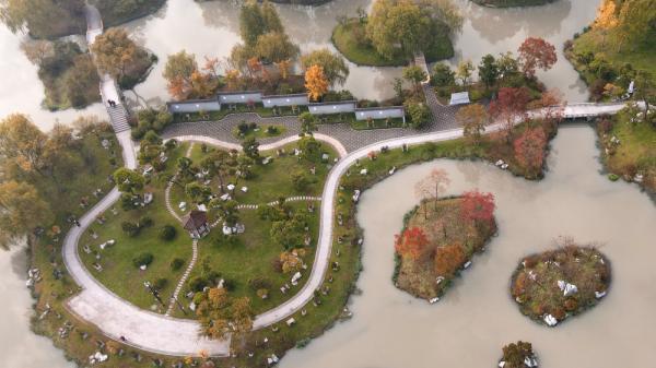 扬州瘦西湖美景图