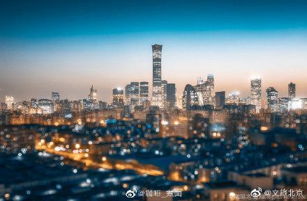 北京夜景图片街道夜景