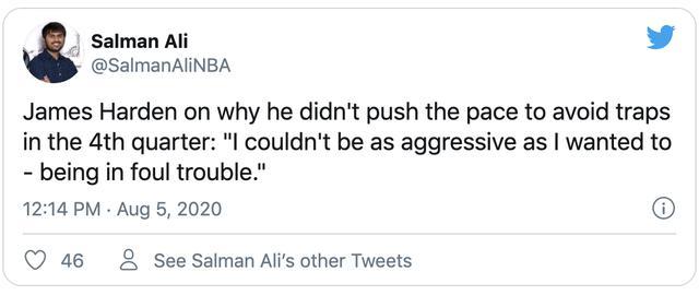 復賽後場均5犯!哈登陷困原因不在於爭議犯規,火箭體系是問題所在!-黑特籃球-NBA新聞影音圖片分享社區