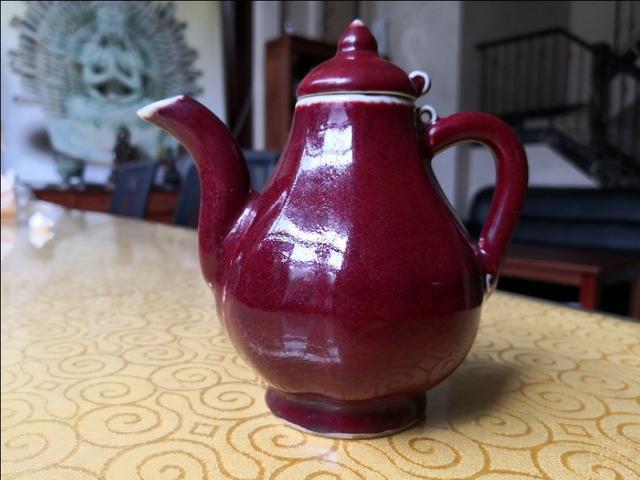 老的祭红釉瓷器图片