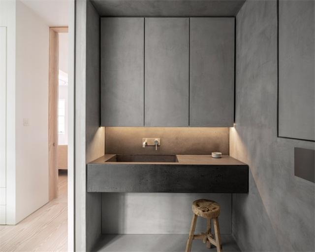 大理石自砌洗手台图片