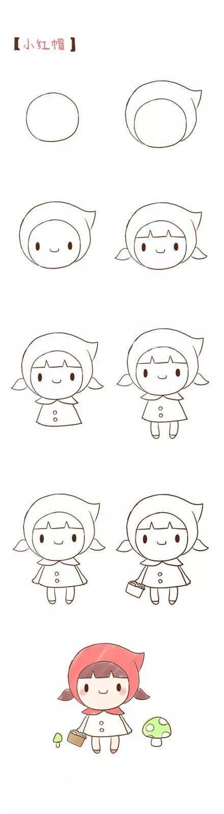 卡通人物简笔画男孩