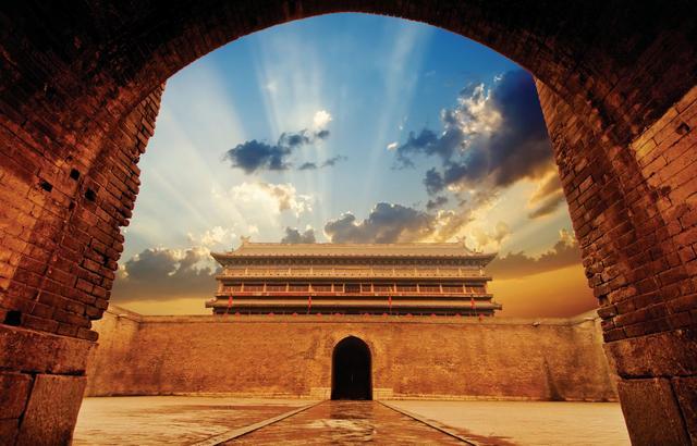 西安古城全景图片大全