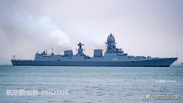 印海军最强驱逐舰,排水量8200吨导弹64枚,多方合作的烧火棍