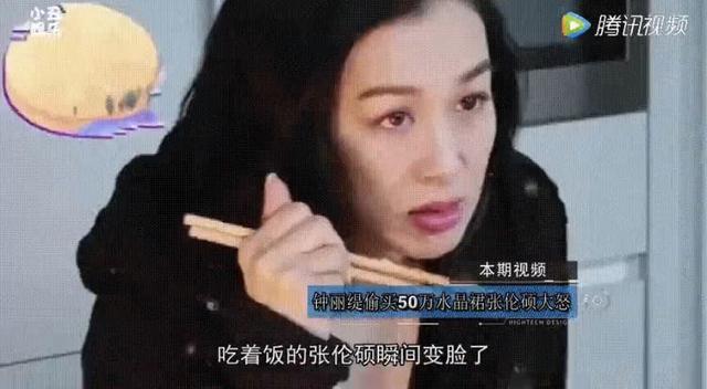 钟丽缇偷偷背着张伦硕买了条50万水晶裙,张知道后摔门离开……