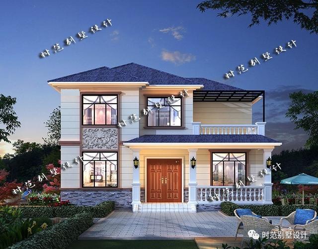 10x12米二层小别墅,5室3厅大露台,适合小宅基地的朋友自建
