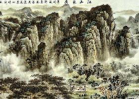 「愙斋书法」张大千名画欣赏