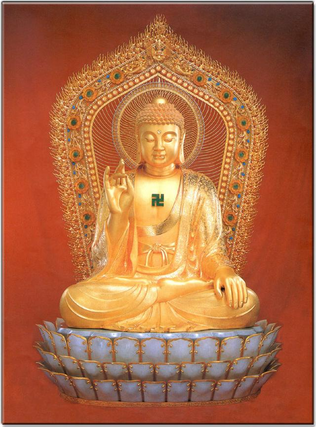 「年年有福」释迦牟尼佛画像