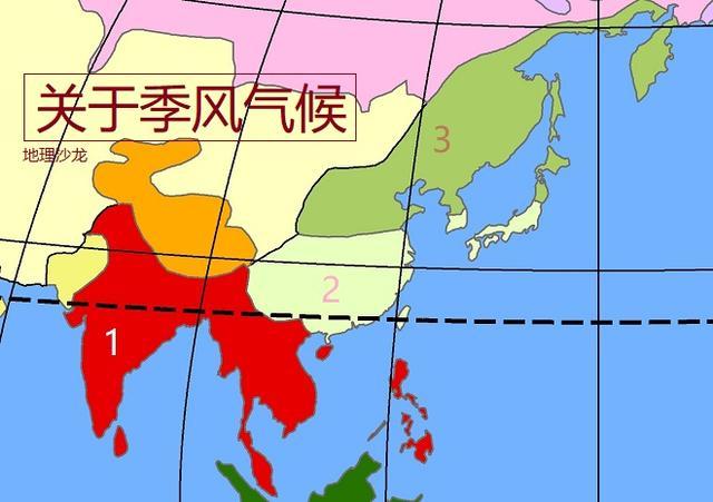 亚洲十大气候类型的特点和分布