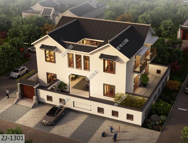 中式庭院设计实景图