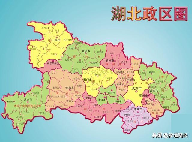湖北行政區地圖