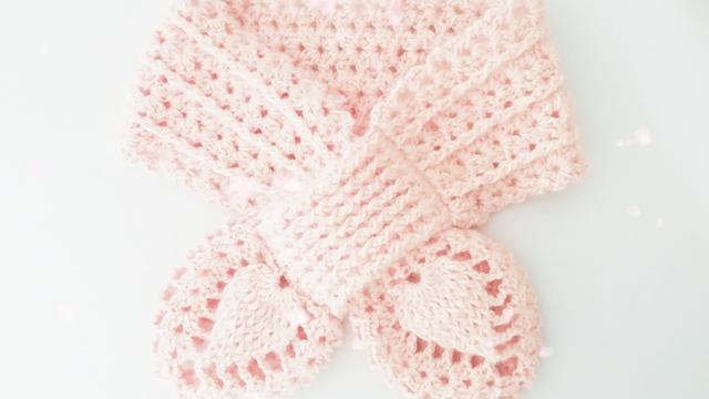 菠萝围巾(花样图解)