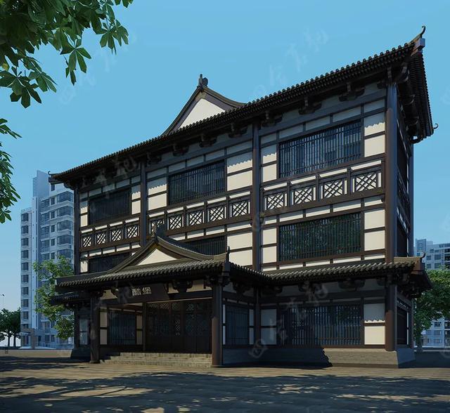 """现代中式建筑设计里的几种""""创意"""""""