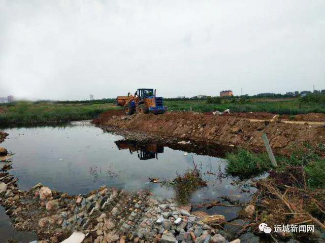 运城市区大禹街临时排水工程开建