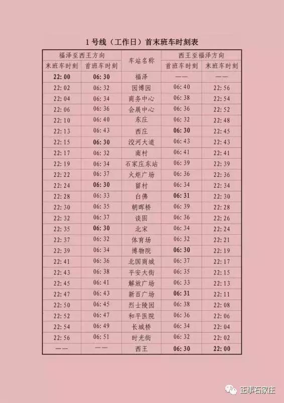上海1号线最新时刻表