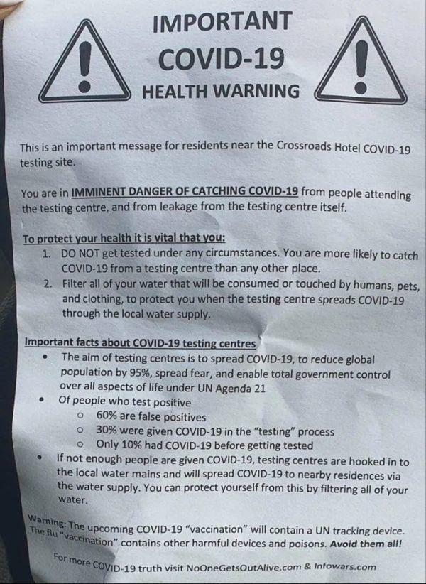 无数悉尼人收到神秘信:新冠检测点会泄露病毒!不要去检测