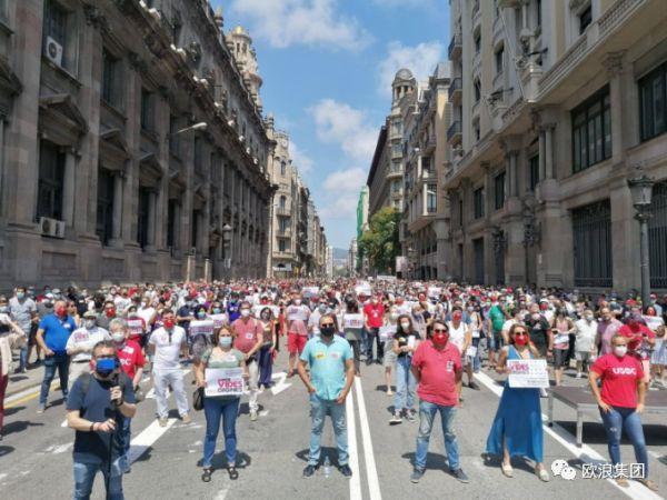 """西班牙 50 省市同时示威,要求""""重建西班牙"""""""