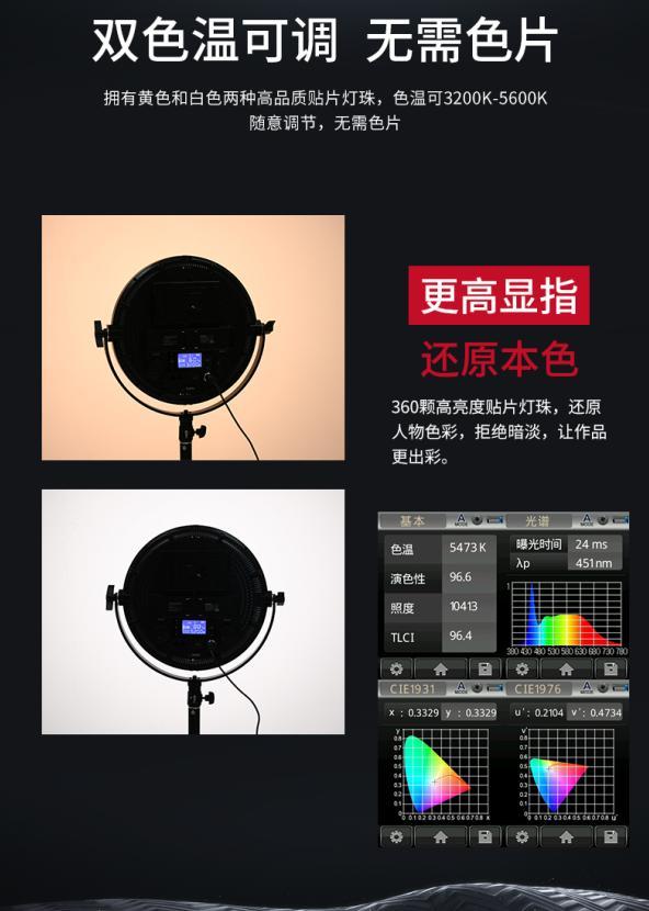有光如月,明亮柔美!图立方平板LED补光灯R-S36B/R-S60B荣耀上市
