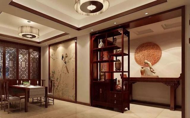 中式博古架装修效果图,古典家具的新生魅力