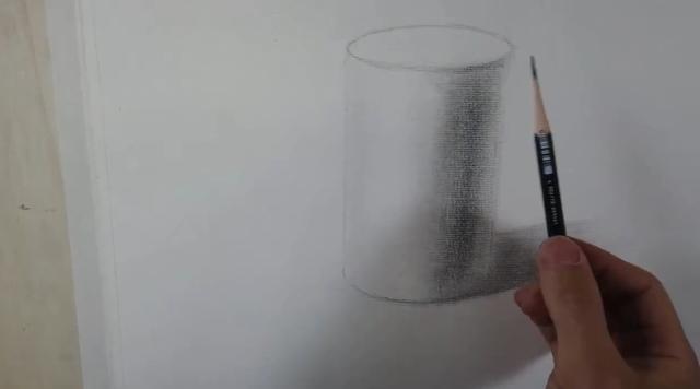 圆柱素描图片步骤结构