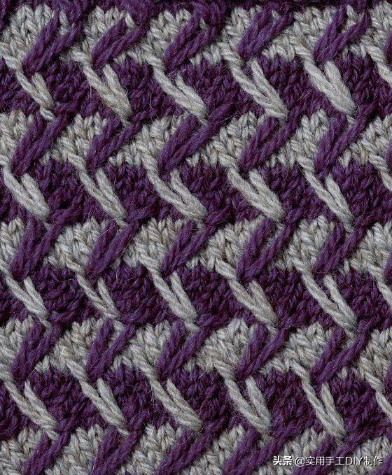 「棒针图解」33个棒针编织花样,可用于织毛衣和配饰