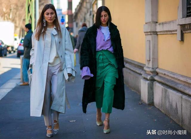 """无论长大衣还是短外套,搭配一条""""阔腿裤"""",时髦显瘦有气场!"""