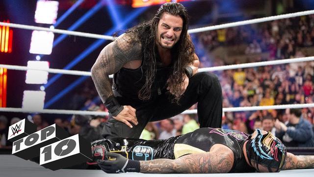WWE幸存者大赛十大光速淘汰 罗门伦斯释放飞冲肩帅气拦截619