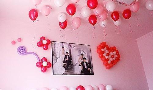 婚房布置气球好看